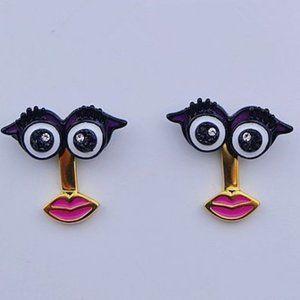 Kate Spade Enamel Enamel Big Eye Earrings